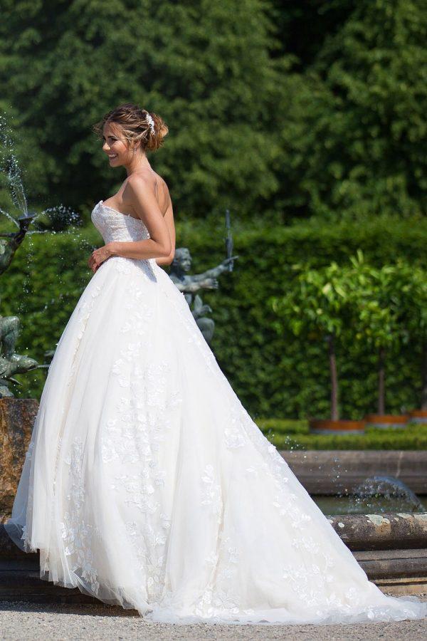 Brautkleid MissGermany 2019 Ivory Romina MGB32 3 Bei Avorio Vestito Brautmode In Berlin