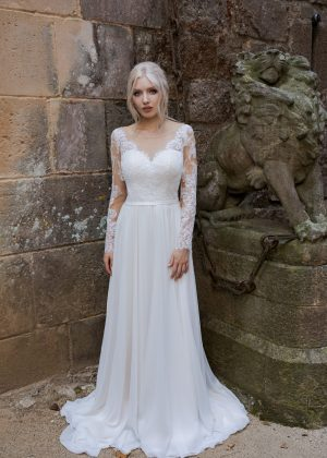 Brautkleid Ivory Aida B1963 1 Guenstiges Hochzeitskleid 2019 Bei Avorio Vestito Eiche Berlin