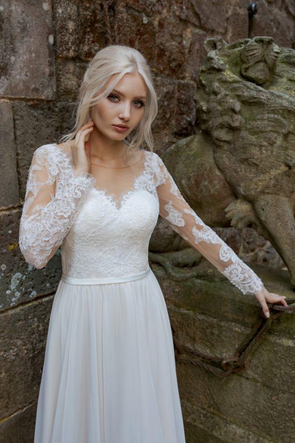 Brautkleid Ivory Aida B1963 2 Guenstiges Hochzeitskleid 2019 Bei Avorio Vestito Eiche Berlin