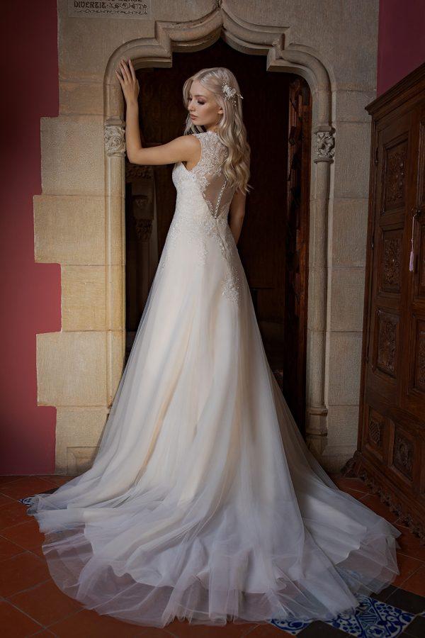 Brautkleid Ivory Aurora B1955 3 Guenstiges Hochzeitskleid 2019 Bei Avorio Vestito Eiche Berlin