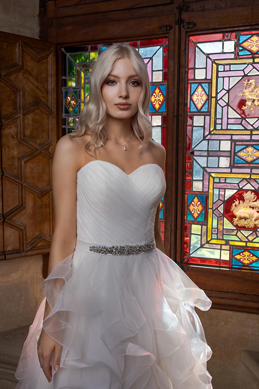 Brautkleid Ivory KarenB1851 2 Guenstiges Hochzeitskleid 2019 Bei Avorio Vestito Eiche Berlin