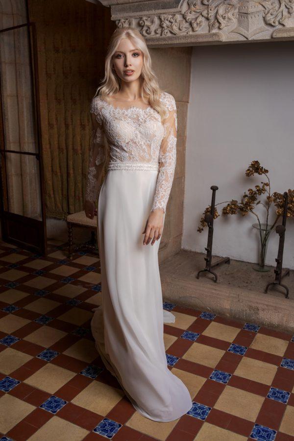 Brautkleid Ivory Kiana B1962 1 Guenstiges Hochzeitskleid 2019 Bei Avorio Vestito Eiche Berlin