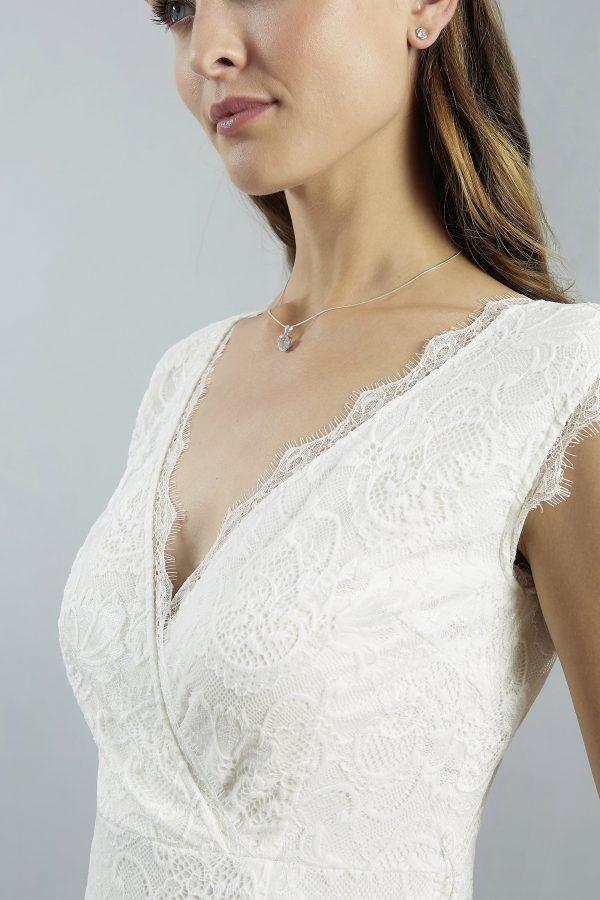 Sweetbelly 2019 Kurzes Brautkleid Standesamtkleid Florence Ivory Short Detail Avorio Vestito Berlin