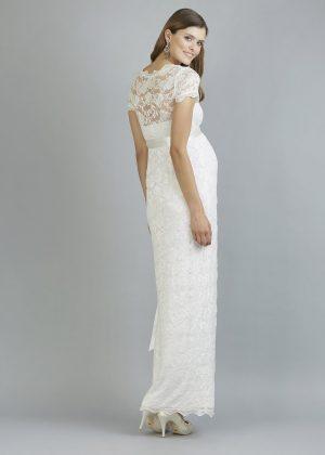 Sweetbelly 2019 Umstandskleid Abby Ivory Langes Kleid Back Avorio Vestito Eiche Brautmode Berlin