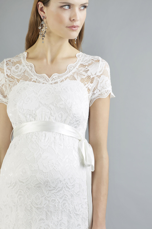 Sweetbelly 2019 Umstandskleid Abby Ivory Langes Kleid Detail Avorio Vestito Eiche Brautmode Berlin
