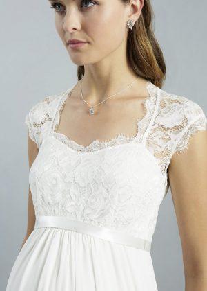Sweetbelly 2019 Umstandskleid Adrianna Ivory Langes Kleid Detail 1 Avorio Vestito Eiche Brautmode Berlin