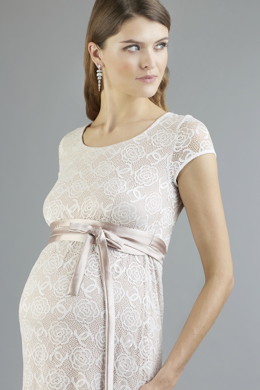 Sweetbelly 2019 Umstandskleid Allegra Vintage Rose Ivory Kurzes Kleid Detail Avorio Vestito Eiche Brautmode Berlin