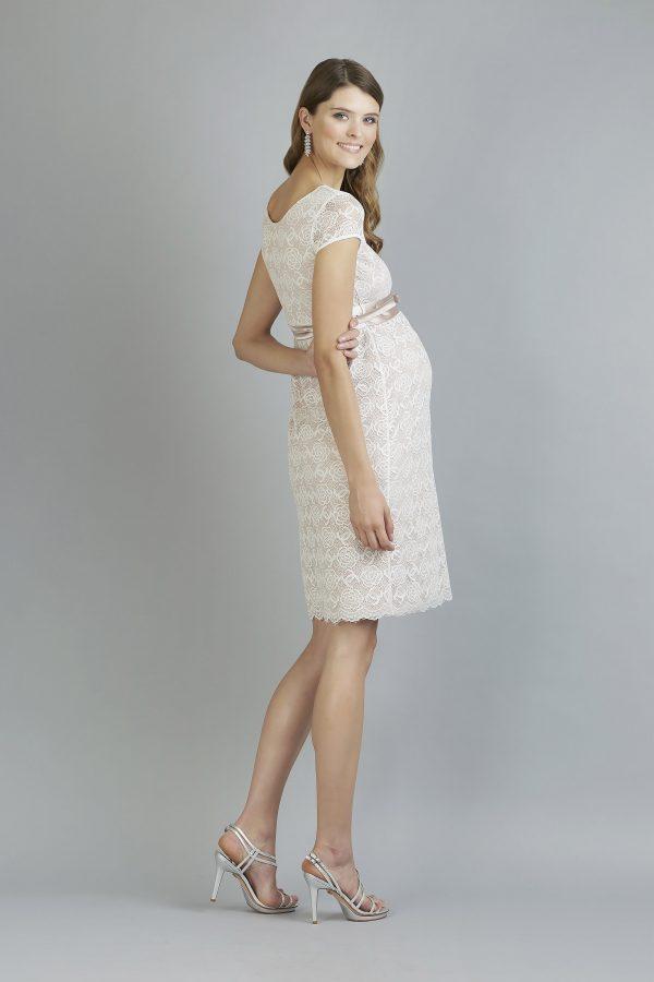 Sweetbelly 2019 Umstandskleid Allegra Vintage Rose Ivory Kurzes Kleid Side Avorio Vestito Eiche Brautmode Berlin