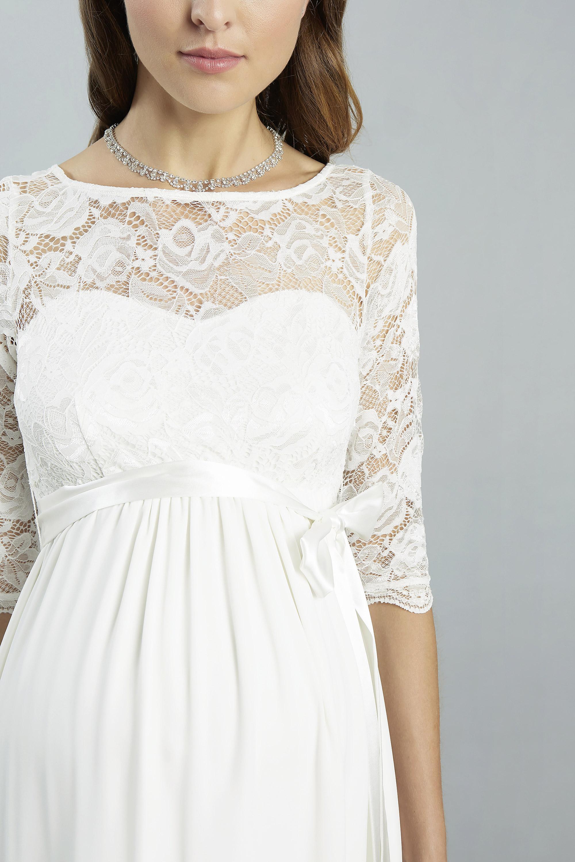 Sweetbelly 2019 Umstandskleid Arielle Ivory Kurzes Kleid Detail 1 Avorio Vestito Eiche Brautmode Berlin