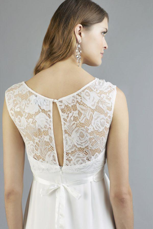 Sweetbelly 2019 Umstandskleid Cassidy Ivory Kurzes Kleid Detail 2 Avorio Vestito Eiche Brautmode Berlin