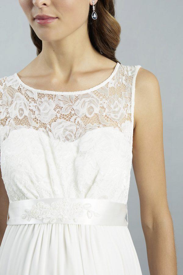 Sweetbelly 2019 Umstandskleid Cassidy Ivory Langes Kleid Detail 1 Avorio Vestito Eiche Brautmode Berlin