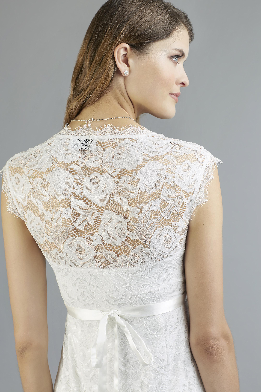Sweetbelly 2019 Umstandskleid Catherina Ivory Kurzes Kleid Detail Avorio Vestito Eiche Brautmode Berlin