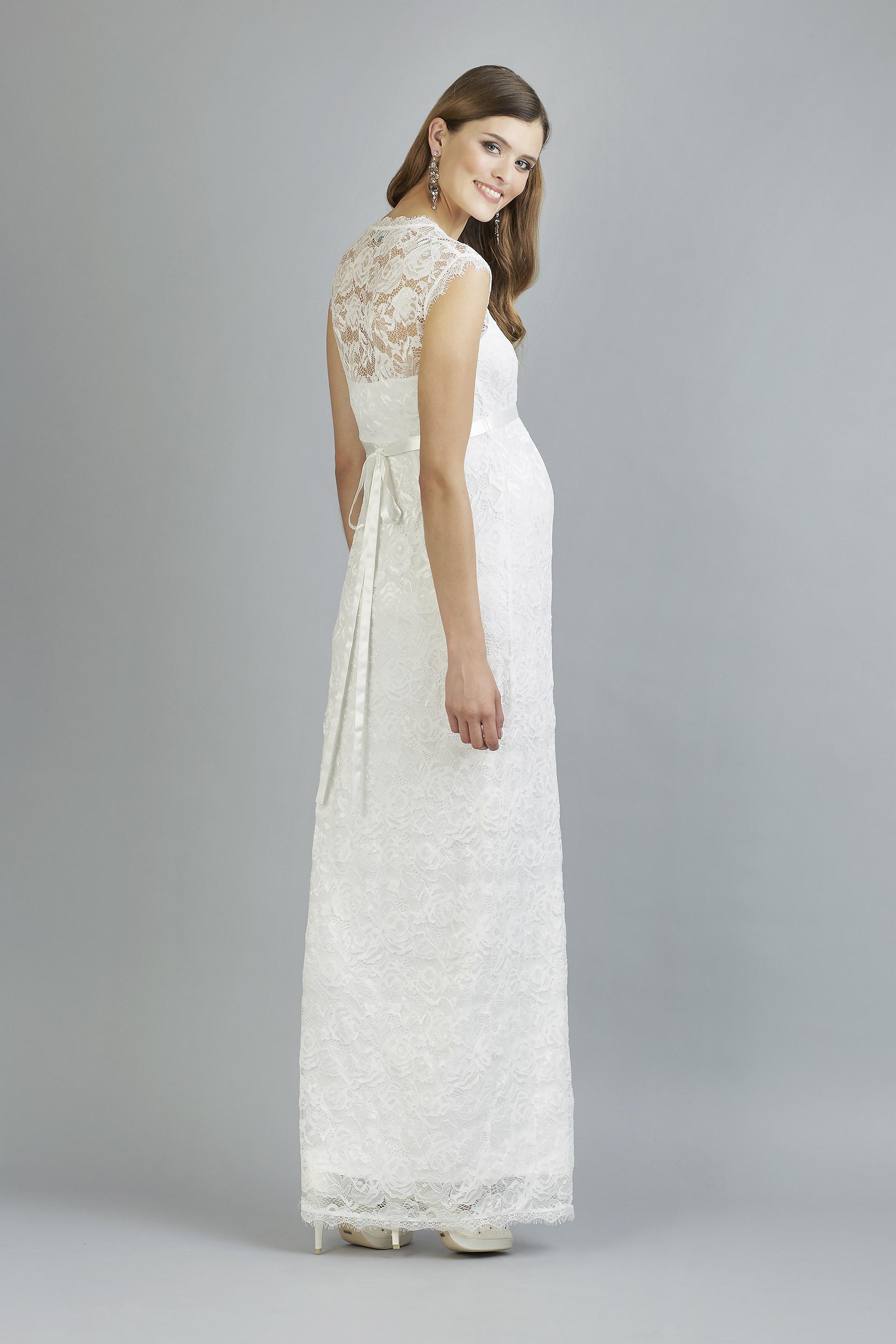 Sweetbelly 2019 Umstandskleid Catherina Ivory Langes Kleid Back Avorio Vestito Eiche Brautmode Berlin
