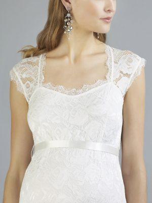 Sweetbelly 2019 Umstandskleid Catherina Ivory Langes Kleid Detail Avorio Vestito Eiche Brautmode Berlin