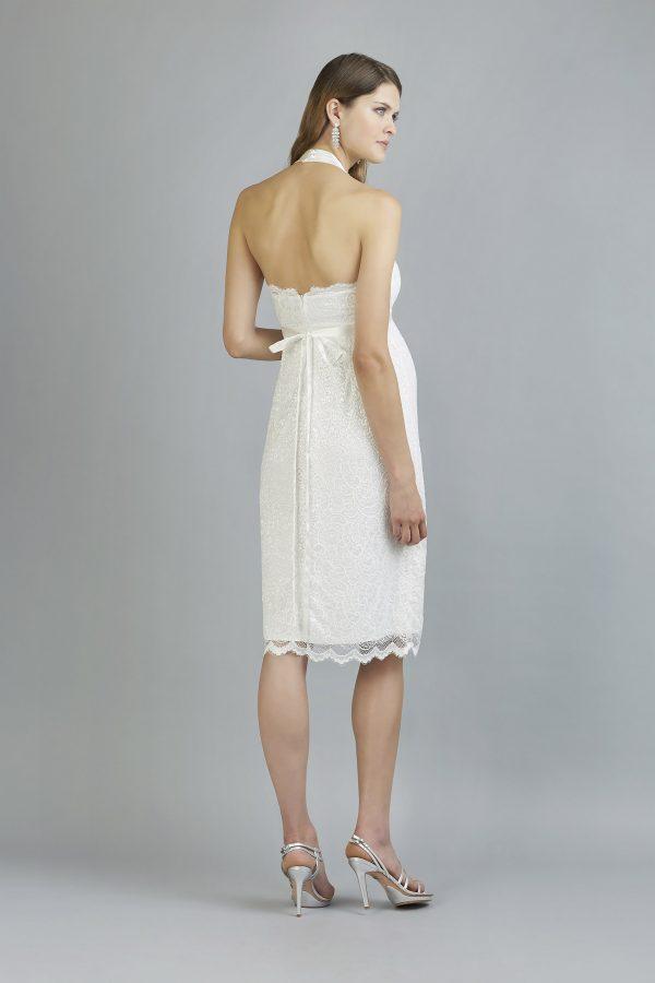 Sweetbelly 2019 Umstandskleid Chiara Ivory Kurzes Kleid Back Avorio Vestito Eiche Brautmode Berlin