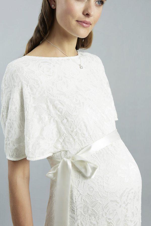 Sweetbelly 2019 Umstandskleid Ella Ivory Langes Kleid Detail 1 Avorio Vestito Eiche Brautmode Berlin