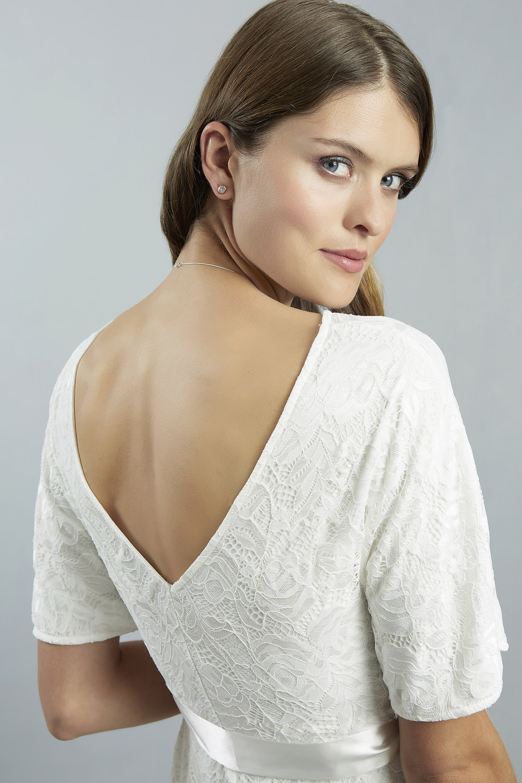 Sweetbelly 2019 Umstandskleid Ella Ivory Langes Kleid Detail 2 Avorio Vestito Eiche Brautmode Berlin