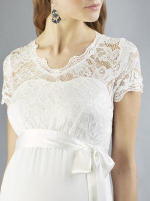 Sweetbelly 2019 Umstandskleid Kimberley Ivory Langes Kleid Detail Avorio Vestito Eiche Brautmode Berlin