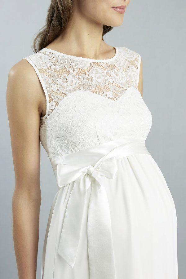 Sweetbelly 2019 Umstandskleid Lucy Ivory Kurzes Kleid Detail 1 Avorio Vestito Eiche Brautmode Berlin