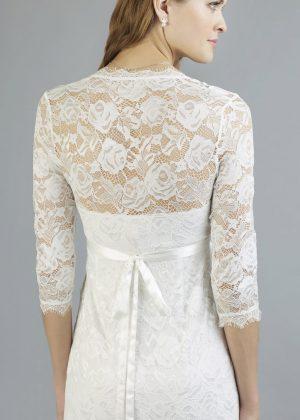Sweetbelly 2019 Umstandskleid Mara Ivory Kurzes Kleid Detail Avorio Vestito Eiche Brautmode Berlin