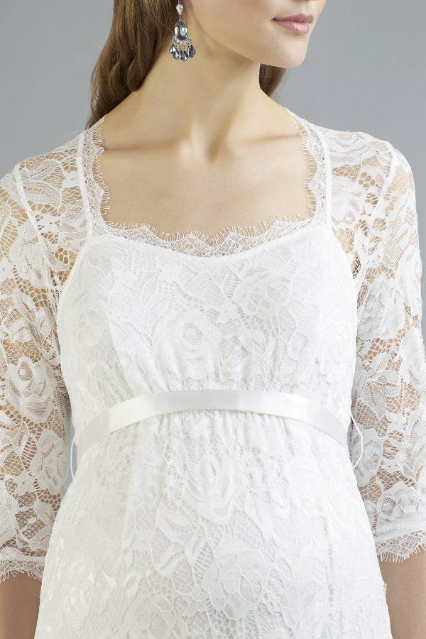 Sweetbelly 2019 Umstandskleid Mara Ivory Langes Kleid Detail 1 Avorio Vestito Eiche Brautmode Berlin