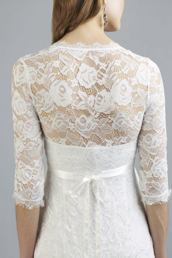 Sweetbelly 2019 Umstandskleid Mara Ivory Langes Kleid Detail 2 Avorio Vestito Eiche Brautmode Berlin
