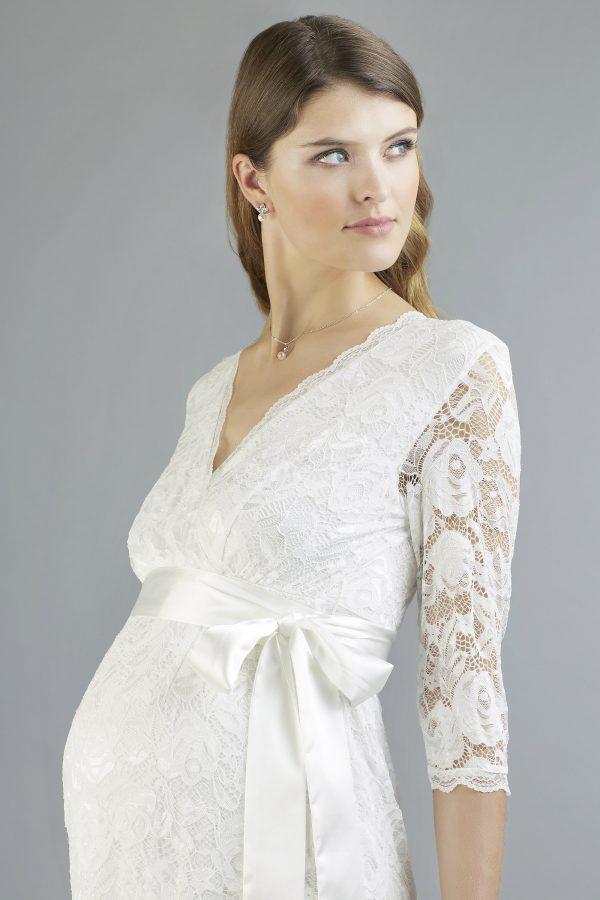 Sweetbelly 2019 Umstandskleid Phillipa Ivory Kurzes Kleid Detail Avorio Vestito Eiche Brautmode Berlin