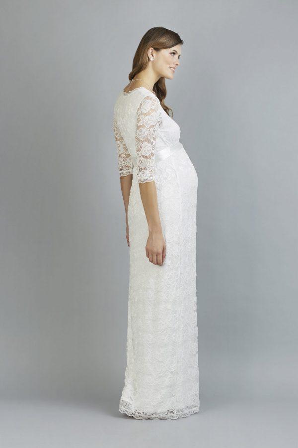 Sweetbelly 2019 Umstandskleid Phillipa Ivory Langes Kleid Side Avorio Vestito Eiche Brautmode Berlin