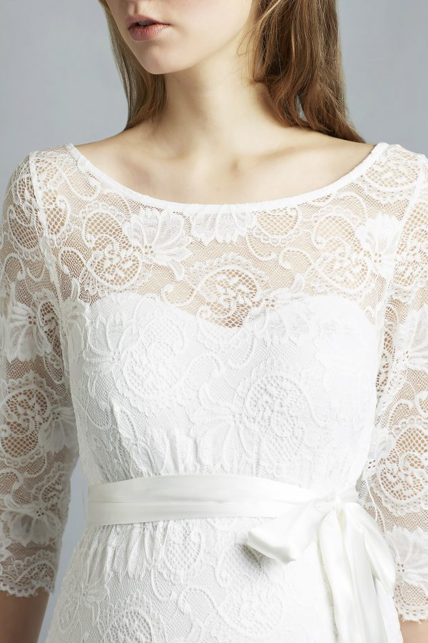 Sweetbelly 2019 Umstandskleid Tabea Ivory Langes Kleid Detail Avorio Vestito Eiche Brautmode Berlin