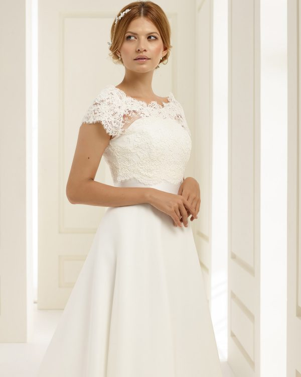 Brautkleid Bianco Evento 2019 PEONIA 2 Bei Avorio Vestito BrideStore And More Brautmode Berlin
