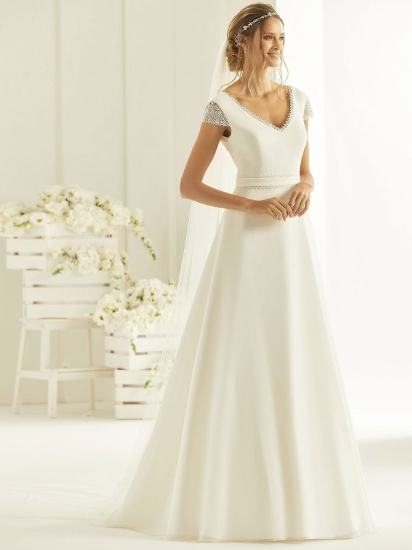 Brautkleid Bianco Evento 2019 Bridal Dress NATURA 1 Bei Avorio Vestito BrideStore And More Brautmode Berlin
