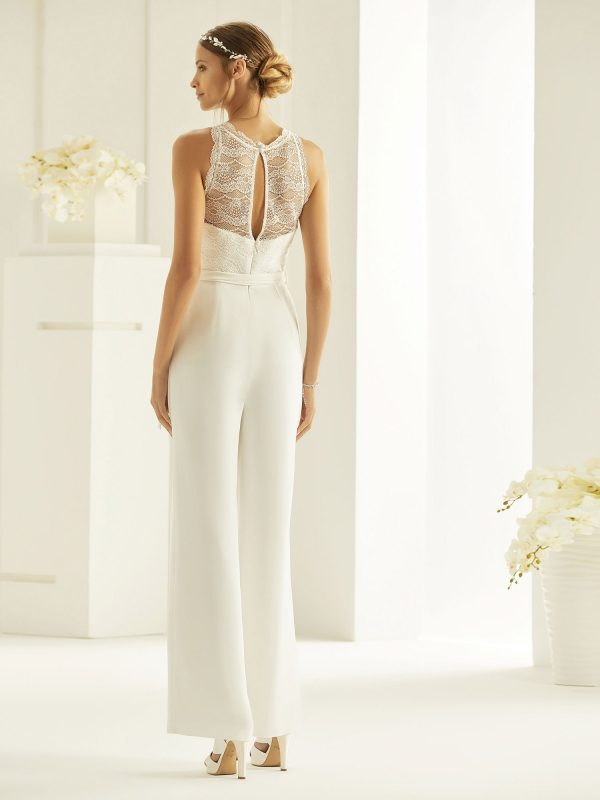 Brautkleid Bianco Evento 2019 Bridal Jumpsuit SAMANTA 3 Bei Avorio Vestito BrideStore And More Brautmode Berlin