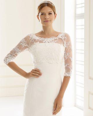 Braut Bolero Bianco Evento 2019 E132 Avorio Vestito BrideStore And More Brautaccessoires Berlin