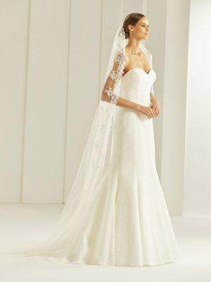 Brautschleier 2019 Bianco Evento Bridal Veil S256 1 Avorio Vestito BrideStore And More Brautaccessoires Berlin