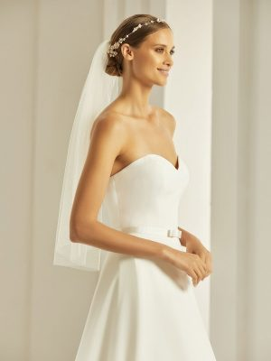 Brautschleier 2019 Bianco Evento Bridal Veil S302 1 Avorio Vestito BrideStore And More Brautaccessoires Berlin