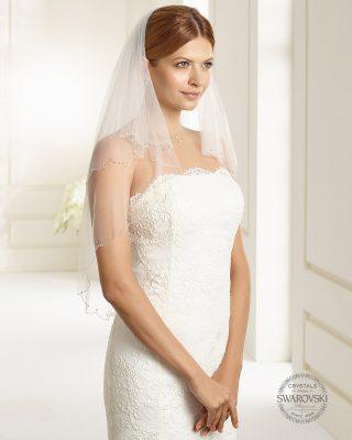 Brautschleier 2019 S151 1 Avorio Vestito BrideStore And More Brautaccessoires Berlin