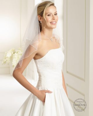 Brautschleier 2019 S159 1 Avorio Vestito BrideStore And More Brautaccessoires Berlin