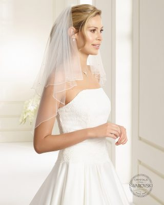 Brautschleier 2019 S71 1 Avorio Vestito BrideStore And More Brautaccessoires Berlin
