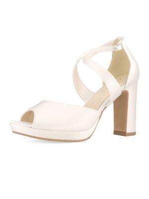Brautschuhe Bianco Evento 2019 AVALIA Bridal Shoes CINDY 2 Avorio Vestito BrideStore And More Brautaccessoires Berlin
