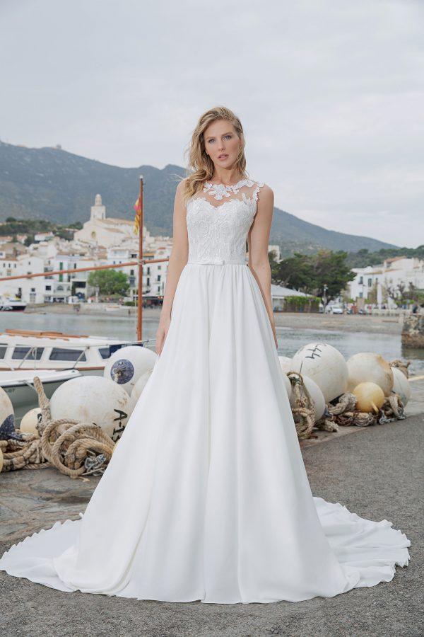Amera Vera Kollektion 2020 Ivory Brautkleid Aleha B2017 2 Bei Avorio Vestito BrideStore And More Brautmode In Berlin Eiche