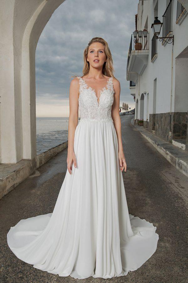 Amera Vera Kollektion 2020 Ivory Brautkleid Alinde B2007 2 Bei Avorio Vestito BrideStore And More Brautmode In Berlin Eiche