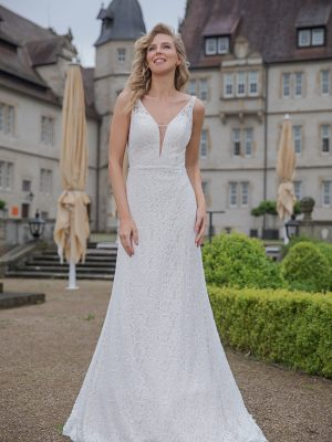 Amera Vera Kollektion 2020 Ivory Brautkleid Almedina B2045 2 Bei Avorio Vestito BrideStore And More Brautmode In Berlin Eiche