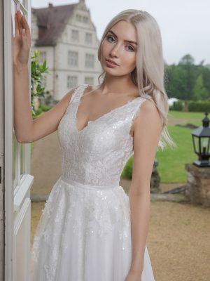 AnnAngelex Kollektion 2020 Ivory Brautkleid Bahira B2051 1 Avorio Vestito BrideStore And More Brautmode In Berlin Eiche
