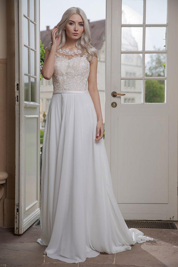 AnnAngelex Kollektion 2020 Ivory Brautkleid Bibiane B2069 2 Avorio Vestito BrideStore And More Brautmode In Berlin Eiche