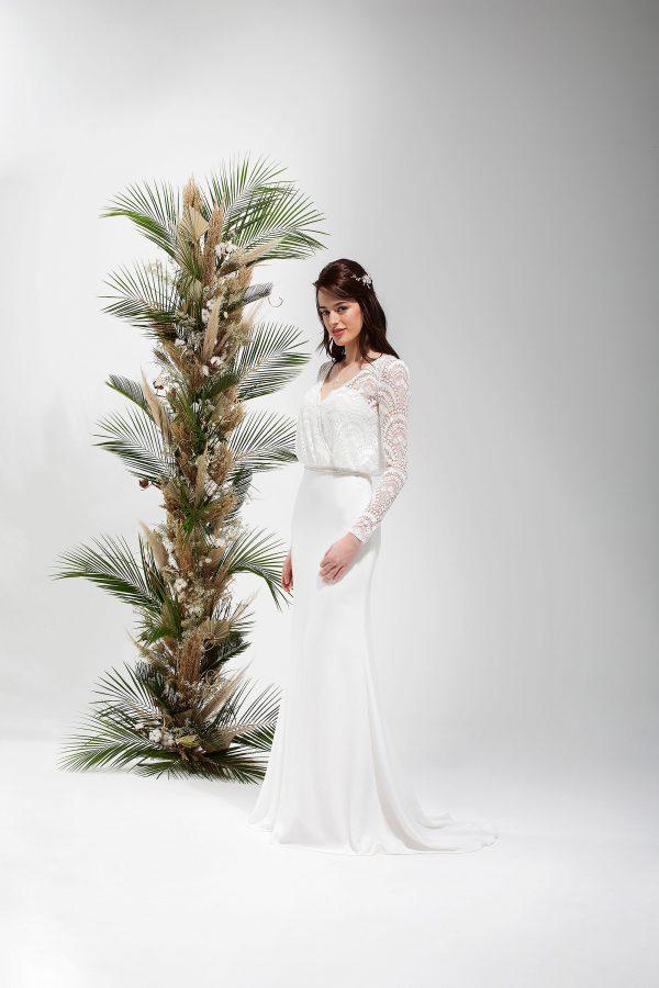 Brautmode In Berlin Eglantine 2020 Ivory Brautkleid EG C20 SAGE 4532 Bei Avorio Vestito BrideStore And More Hochzeitsmode In Berlin Eiche