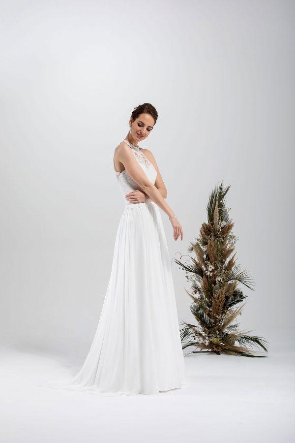 Brautmode In Berlin Eglantine 2020 Ivory Brautkleid EG C20 SANDRA 7040 Bei Avorio Vestito BrideStore And More Hochzeitsmode In Berlin Eiche
