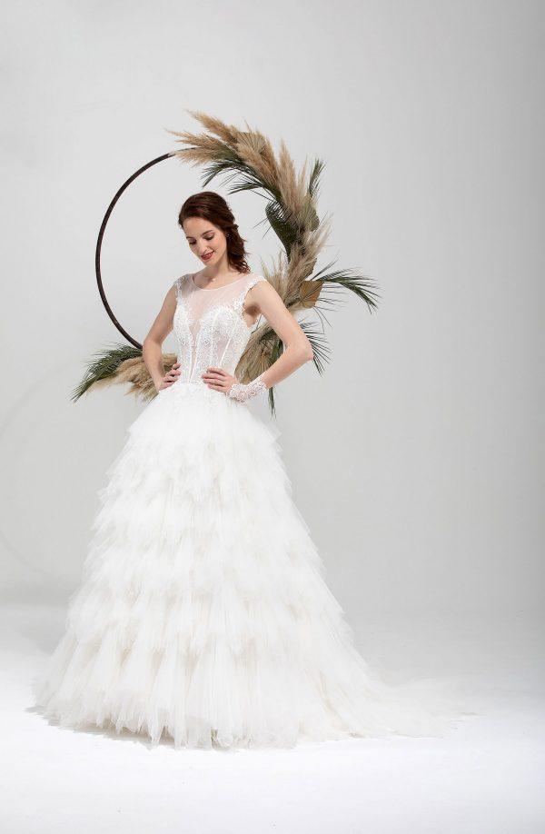 Brautmode In Berlin Eglantine 2020 Ivory Brautkleid EG C20 SEVILLE 6670 Bei Avorio Vestito BrideStore And More Hochzeitsmode In Berlin Eiche