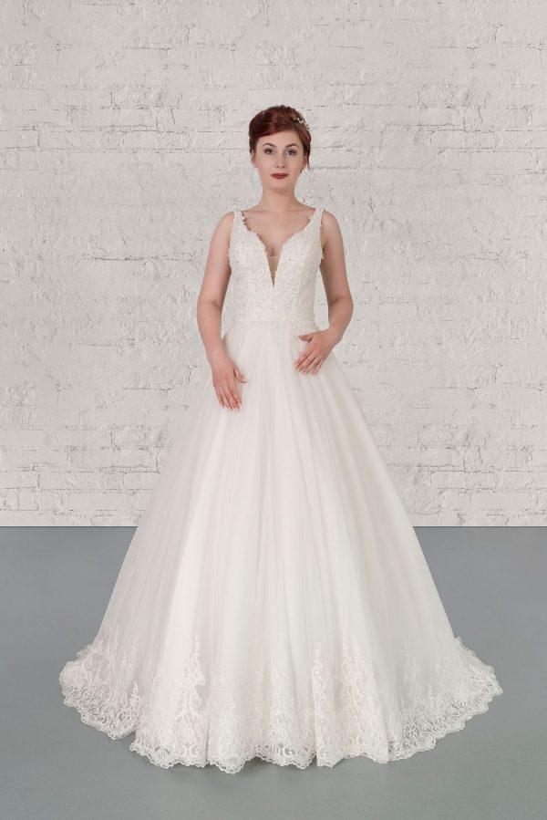 Hochzeitsmode in Berlin Fuchs 2020 ivory Brautkleid R 01189 1 bei Avorio Vestito BrideStore and more Hochzeitsmode in Berlin Eiche