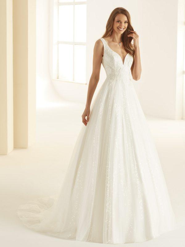 Ivory Brautkleider Bianco Evento 2020 LARISSA 1 Avorio Vestito BrideStore and more in Berlin Eiche