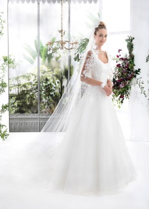 EGLANTINE CREATIONS 2021 Brautkleid EGC21 VEGETAL 3983 Brautmode in Berlin Avorio Vestito BrideStore and more